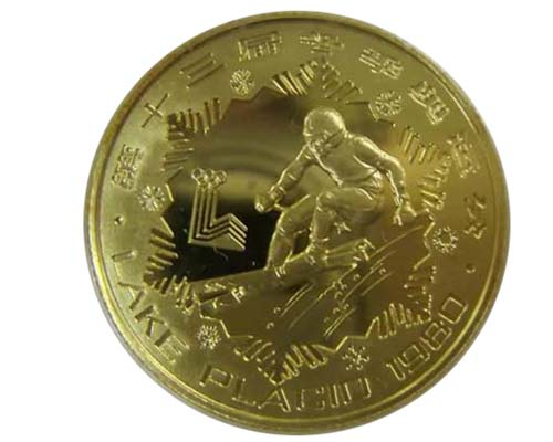China 1980 the 13th Winter Olympic Games gold coin