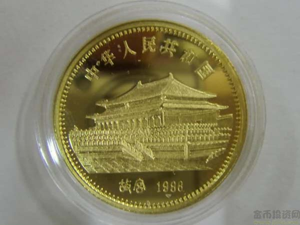 Chinese 1986 8g gold Tiger coin