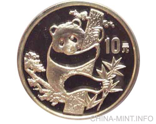 1987 Chinese 1oz silver panda coin