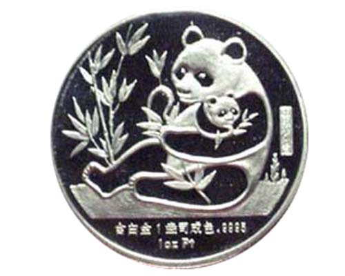 China 1987 platinum 1oz medal