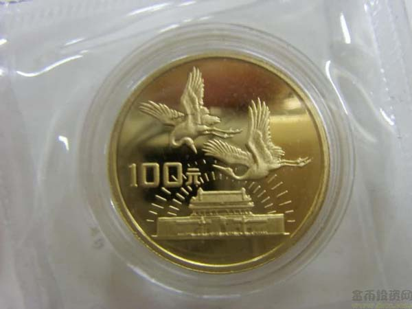1989 China the 40th Anniversary of the Founding of the PRC 1/4oz Gold Coin
